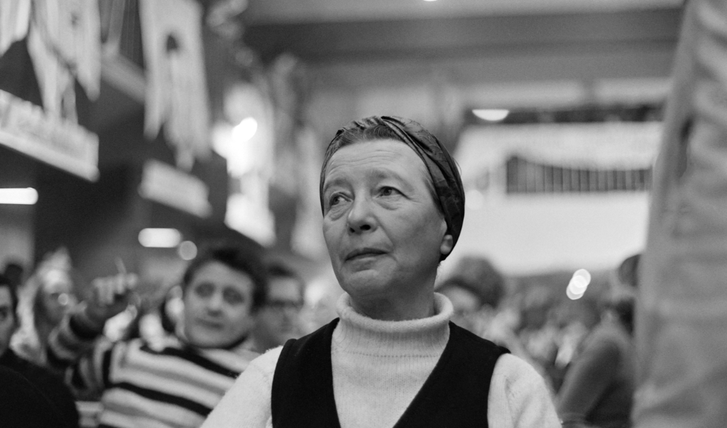 Simone de Beauvoir in 1970.  (beeld afp / Jean Meunier)