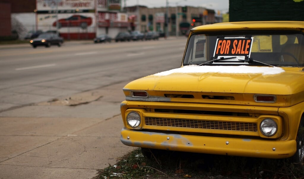 Detroit, ooit de trots van de Amerikaanse autoindustrie, kent jaren van diep verval.  (beeld afp / Spencer Platt)