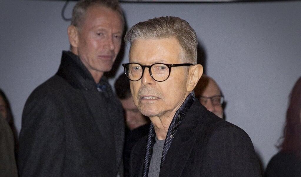 Zanger David Bowie op 7 december 2015 na de première van de musical Lazarus in New York.  (beeld anp / Bernard Rubsamen)
