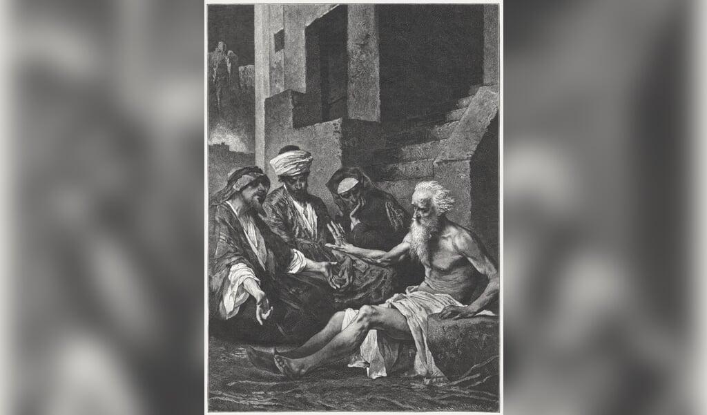 Job en zijn vrienden, schilderij van Max Michael (1823-1891).  (beeld Uwe Zanker)