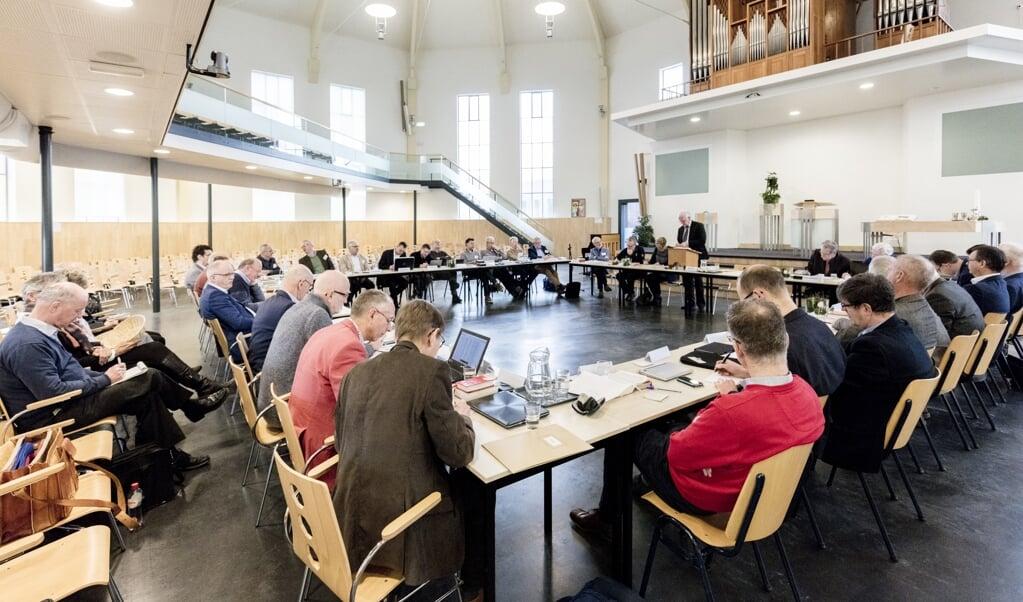 Archieffoto: de Generale Synode 2017 in de Kruiskerk.  (beeld Dick Vos)