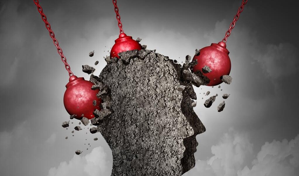 'Door de overweldigende pijn én het onbegrip van de maatschappij, blijft migraine een handicap.'  (beeld istock)