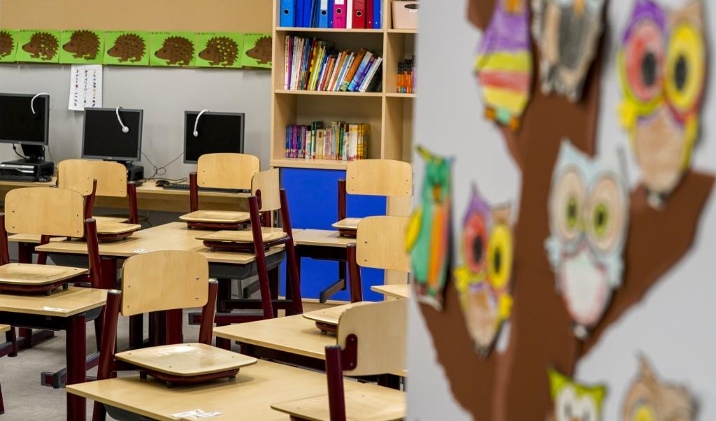 DEN HAAG - Lege klaslokalen in een basischool. Het basis- en voortgezet onderwijs eisen hogere salarissen, een verlaging van de werkdruk en een verbeterde aanpak rond het lerarentekort. ANP XTRA JERRY LAMPEN  (beeld anp / Jerry Lampen)