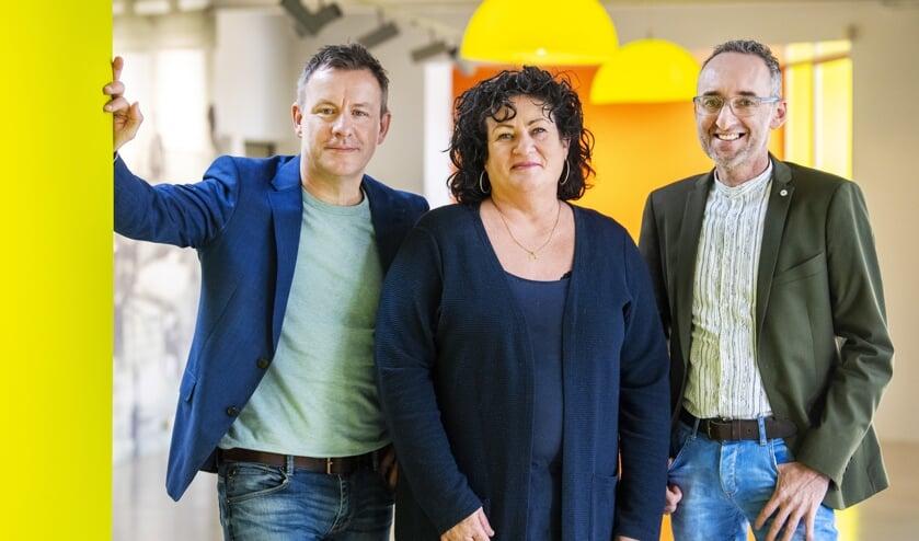 Wim Groot Koerkamp, Caroline van der Plas en Henk Vermeer  van de BoerBurgerBeweging. De politieke partij strijdt voor het bestaansrecht van boeren en tuinders.  (anp / Piroschka van de Wouw)