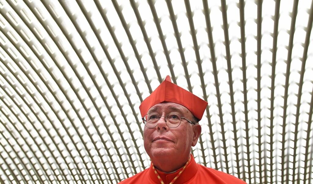Kardinaal Jean-Claude Höllerich: 'In onze dagen verdrinken mensen voor de kust van Malta, anderen vinden de dood aan de Griekse grens. Dat heeft voor mij niets met het Europese ideaal te maken.'  (beeld afp / Tiziana Fabi)