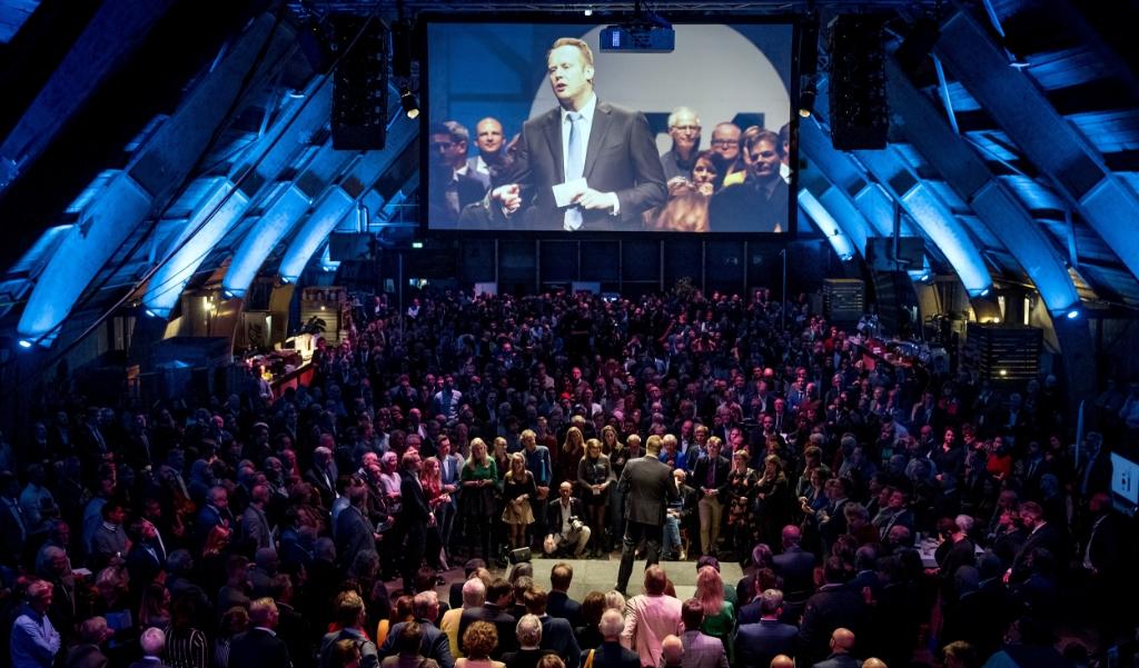 Het CDA is niet langer de grootste ledenpartij. Op de foto: CDA-voorman Pieter Heerma tijdens het CDA-congres in november.  (beeld  anp / Koen van Weel)