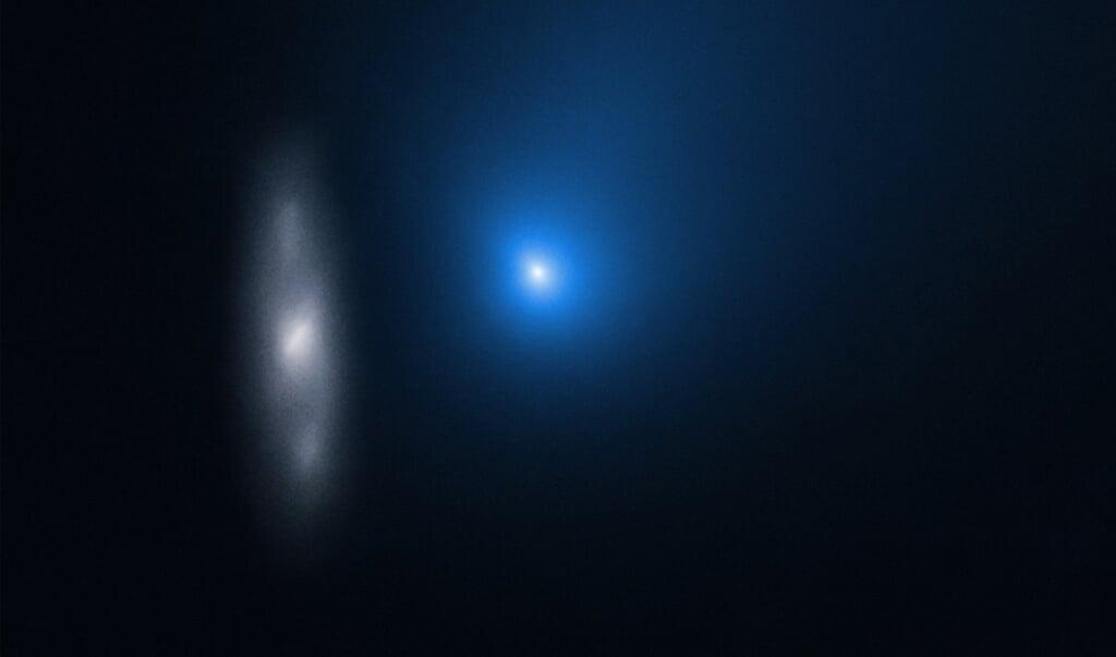 De foto die de Hubble maakte van komeet 2l/Borisov.  (beeld nasa)