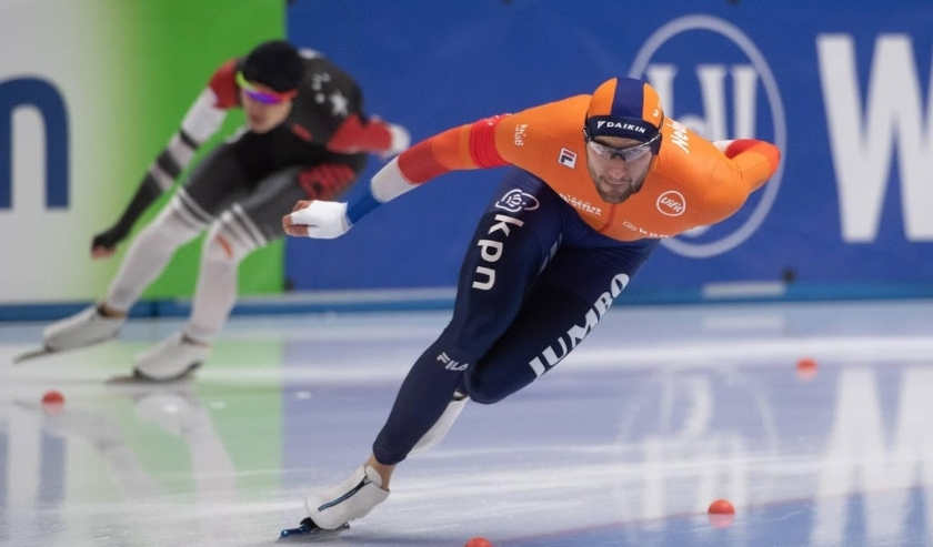 2019-11-23 00:00:00 epa08020153 Thomas Krol of Netherlands in action during the men's 1000 m race of the ISU Speed Skating World Cup in Tomaszow Mazowiecki, central Poland, 23 November 2019.  EPA/Grzegorz Michalowski POLAND OUT  ( beeld anp)