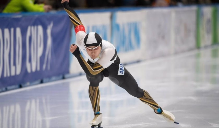 2019-11-24 00:00:00 epa08022405 Yuma Murakami of Japan in action during the men's 500 m race of the ISU Speed Skating World Cup in Tomaszow Mazowiecki, central Poland, 24 November 2019.  EPA/Grzegorz Michalowski POLAND OUT  ( beeld anp)