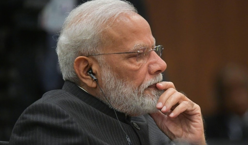 2019-11-14 17:32:08 epa07996162 Indian Prime Minister Narendra Modi attends the 11th BRICS leaders summit at the Itamaraty Palace in Brasilia, Brazil, 14  November 2019.  The BRICS (Brazil, Russia, India, China and South Africa)  leaders summit takes plac  (beeld anp)