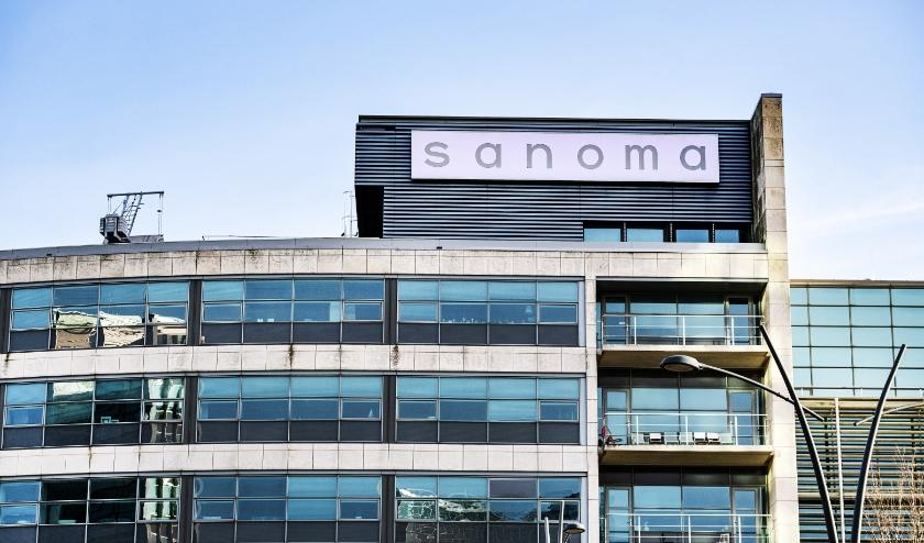 Het hoofdkantoor van Sanoma.  (beeld anp / Ramon van Flymen)
