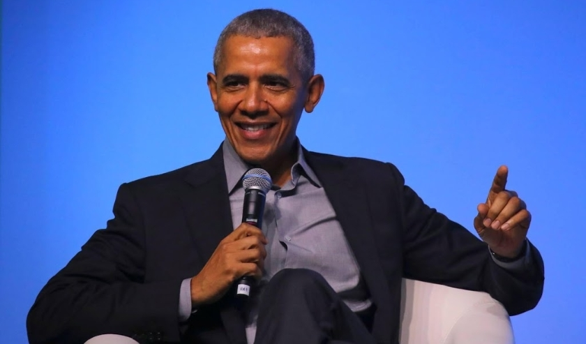 2019-12-13 11:42:43 epa08067536 Former US president Barack Obama talks on stage at an Obama Foundation event in Kuala Lumpur, Malaysia, 13 December 2019. Obama and his wife Michelle are in Kuala Lumpur for the inaugural Leaders: Asia-Pacific conference, f  ( beeld anp)