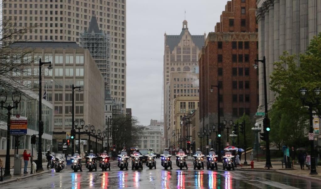 Het programma van de Democratische conventie in Milwaukee is grotendeels geschrapt.  (beeld Riekelt Pasterkamp)