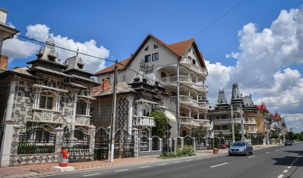 <p>In Buzescu staan veel villa's die gebouwd zijn van geld dat is verdiend met criminele activiteiten.</p>  (beeld Daniel Mihailescu / afp)