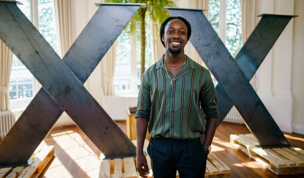 Rapper, acteur en schrijver Akwasi.  (beeld anp / Kippa Marco de Swart)