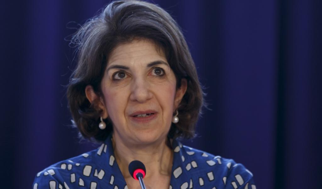 CERN-directeur Fabiola Gianotti  (beeld epa / Salvatore di Nolfi)