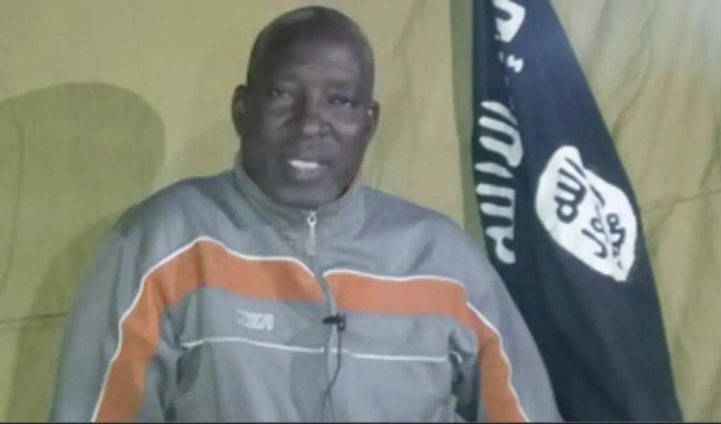 Voorganger Lawan Andimi riep politici en kerkleiders in een losgeldvideo op hem te bevrijden.  (beeld youtube)
