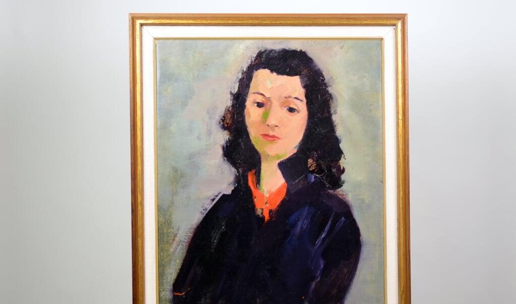 In het zwart geklede vrouw, Max van Dam. Collectie De Museum Fabriek Winterswijk.  (beeld )