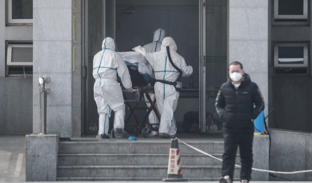 De eerste besmettingen waren allemaal terug te leiden tot de dierenmarkt in Wuhan, maar inmiddels is de ziekte ook opgedoken in Japan en Thailand.   (beeld  epa)