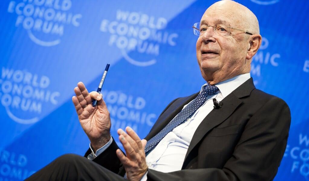 Klaus Schwab, de oprichter van het Wereld Economisch Forum.  (beeld epa / Valentin Flauraud)