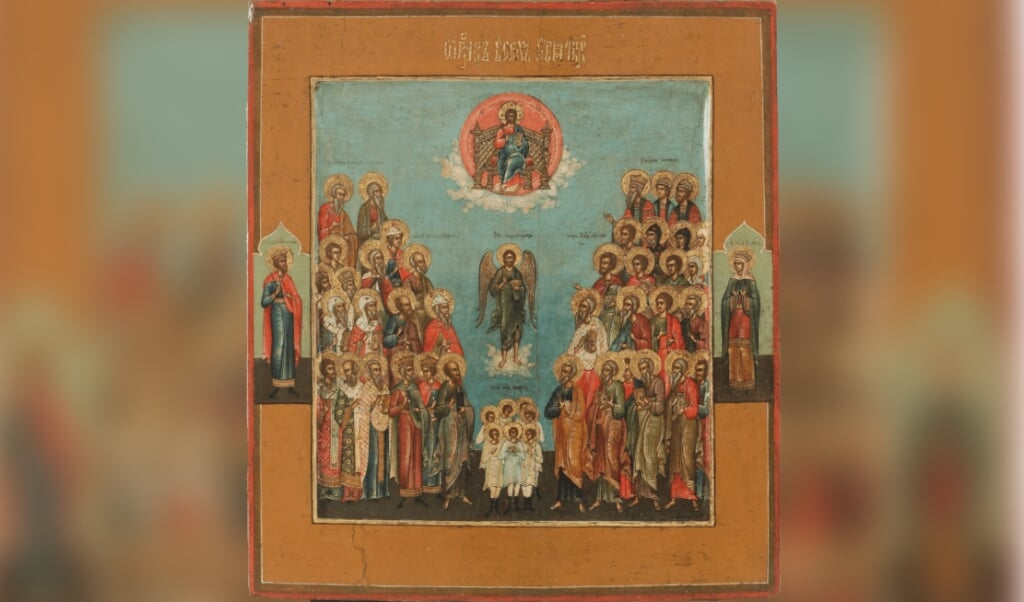 Rusland, 19e eeuw. 31 x 27 cm  (beeld ikonenmuseum kampen)