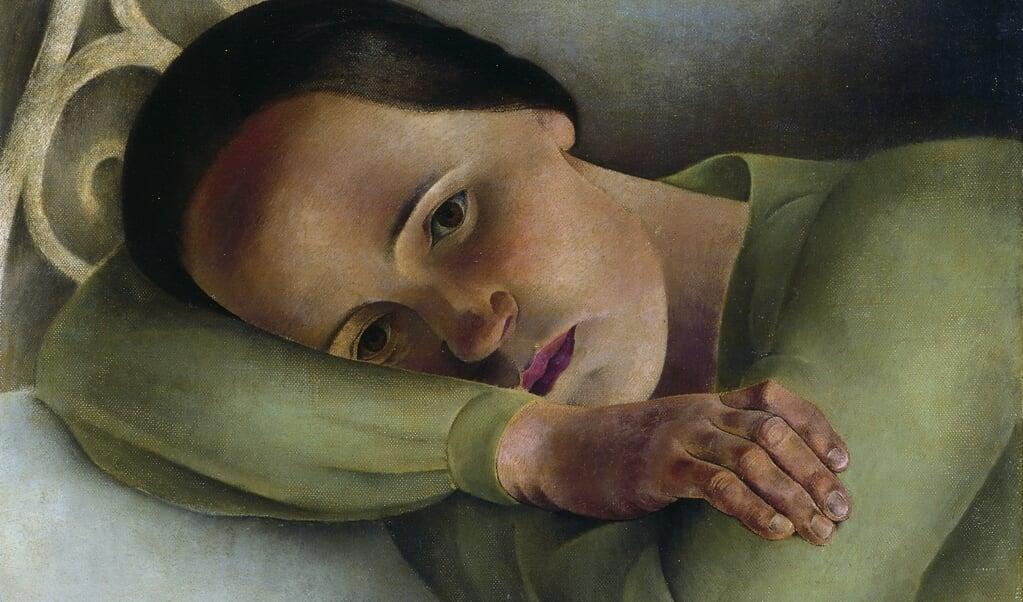 <p>Wim Schuhmacher, Melitta rustend op kussen (1931), Museum MORE.</p>  ( beeld)
