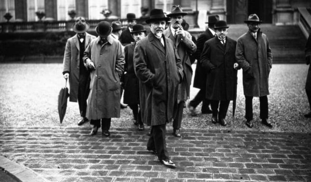 De Griekse ambassadeur M. Karapanos bij de Volkenbond, oktober 1925.  (beeld nd)