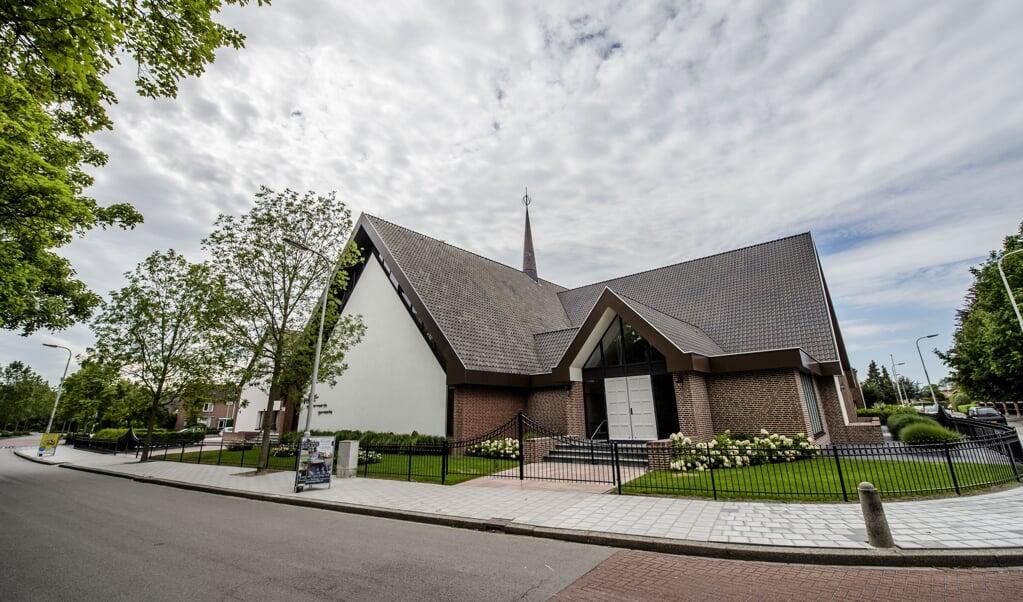 <p>Het kerkgebouw van de Gereformeerde Gemeente in Kruiningen.</p>  (beeld anp / Jonas Roosens)