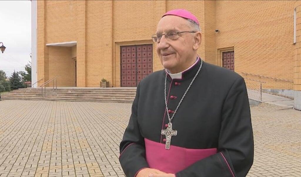 <p>Aartsbisschop Tadeusz Kondrusiewicz van Minsk (Belarus).</p>  (beeld Facebook / TVP3 Bialystok)