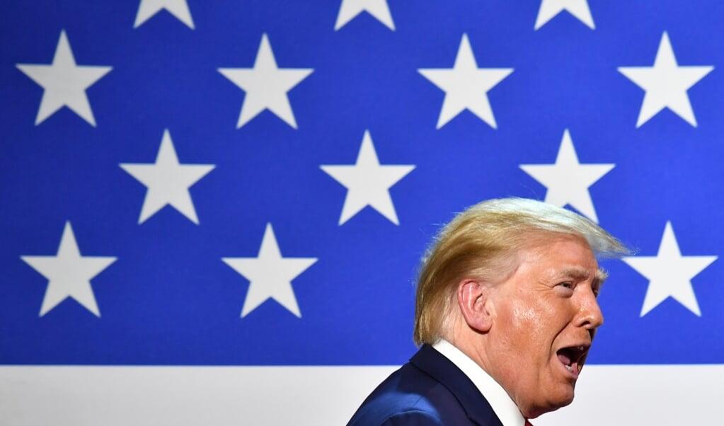 <p>President Donald Trump</p>  (beeld afp / Nicholas Kamm)