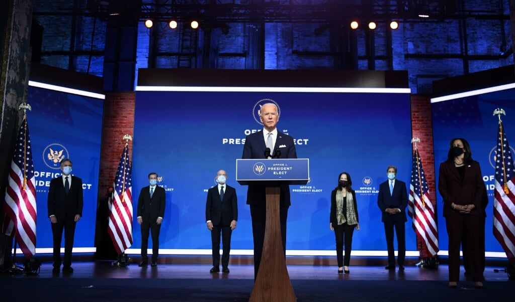 beeld Ready to Lead the World, not Retreat From It,' Biden Said.  chandan Khanna / afp