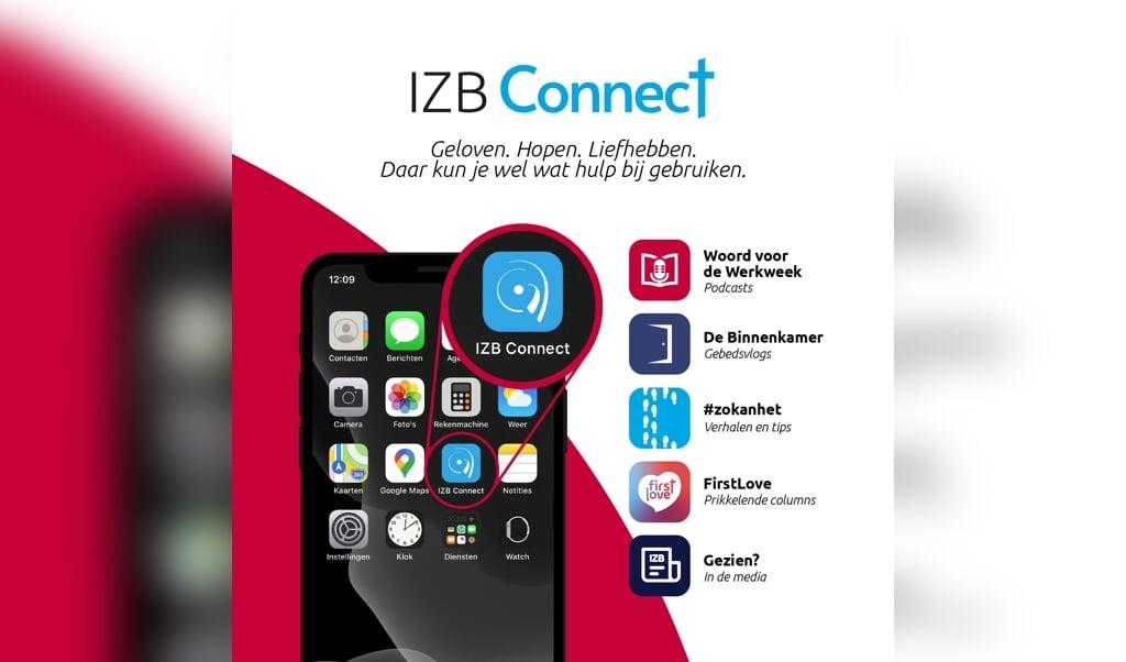 IZB-Connect, de nieuwe app van de missionaire organisatie.  (beeld izb)