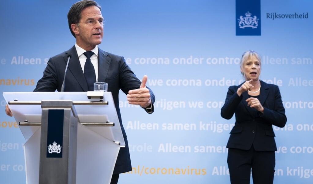 Premier Mark Rutte  (beeld anp / Bart Maat)