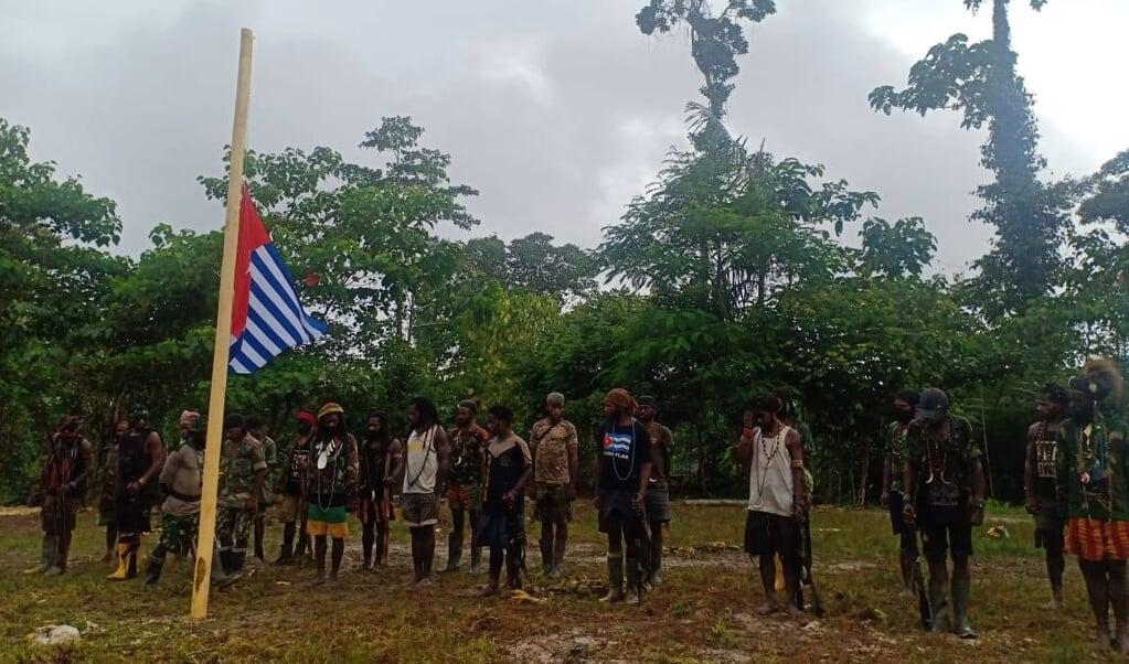 De Morgenstervlag van West-Papua is voor Papoea's een belangrijk symbool bij hun vrijheidsstrijd.  (beeld facebook)