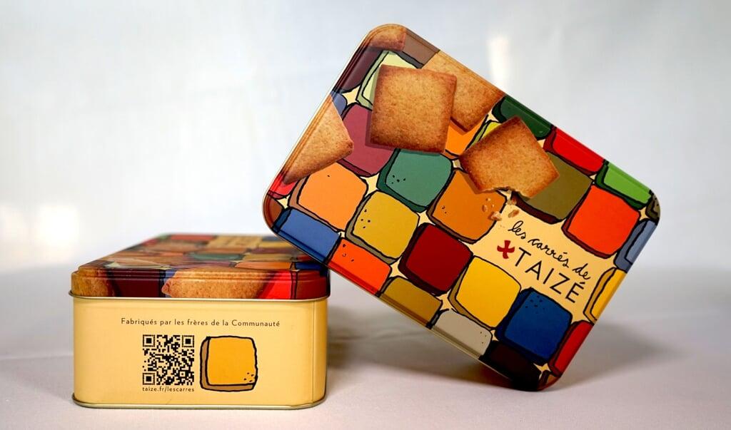 'Les carrés de Taizé', de door de oecumenische gemeenschap van Taizé gefabriceerde koekjes.  (beeld Taizé)