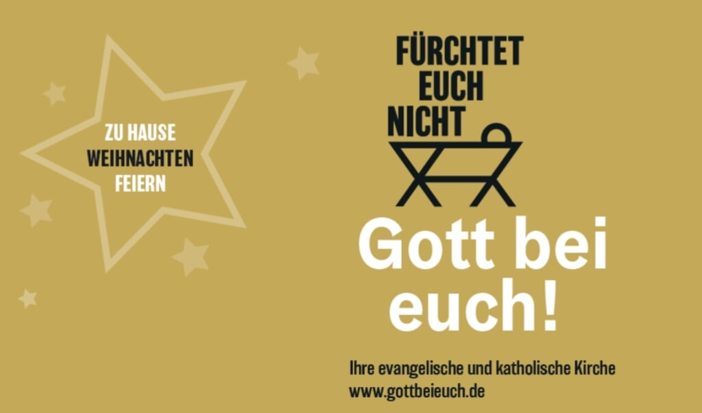 De kerstcampagne van de Duitse kerken.  (beeld www.gottbeieuch.de)