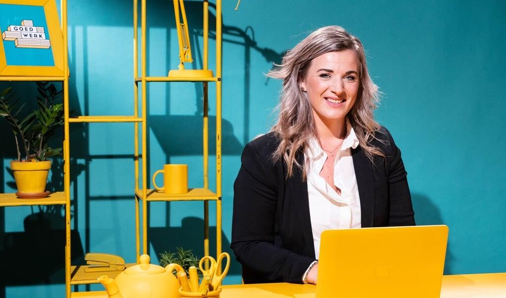 Britt Breure van AFAS: 'Ons nieuwe pand zal vooral de functie van clubhuis hebben, waar je elkaar ontmoet. Het routinematige werk kan thuis.'  (beeld nd)