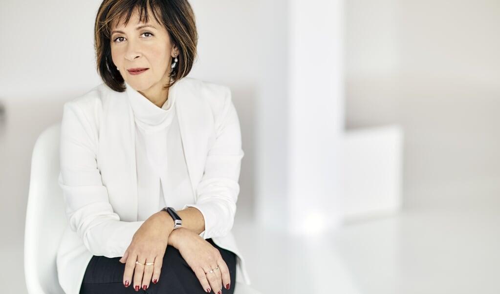 Aura Timen: 'Ik denk dat we een heel zwaar jaar achter de rug hebben, maar er gloort licht aan de horizon. We komen hieruit.'   (beeld Yvette Kulkens)