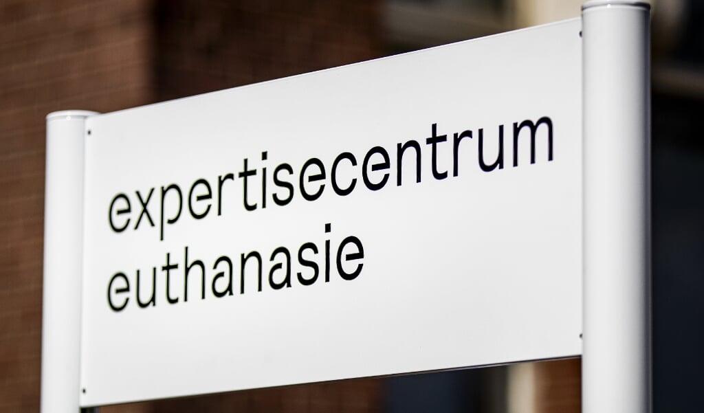 Exterieur van het Expertisecentrum Euthanasie, voorheen de Levenseindekliniek. In vergelijking met 2018 is het aantal euthanasieverzoeken bij het centrum met 15 procent toegenomen.  (beeld anp / Remko de Waal)
