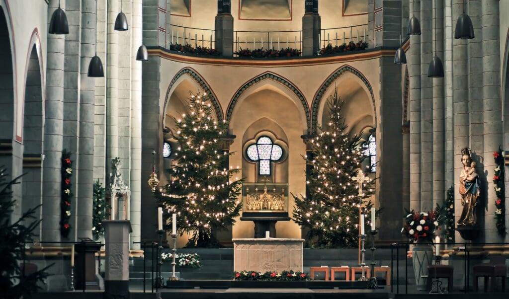 Kerstmis in een rooms-katholieke kerk.  (beeld Cathopic)