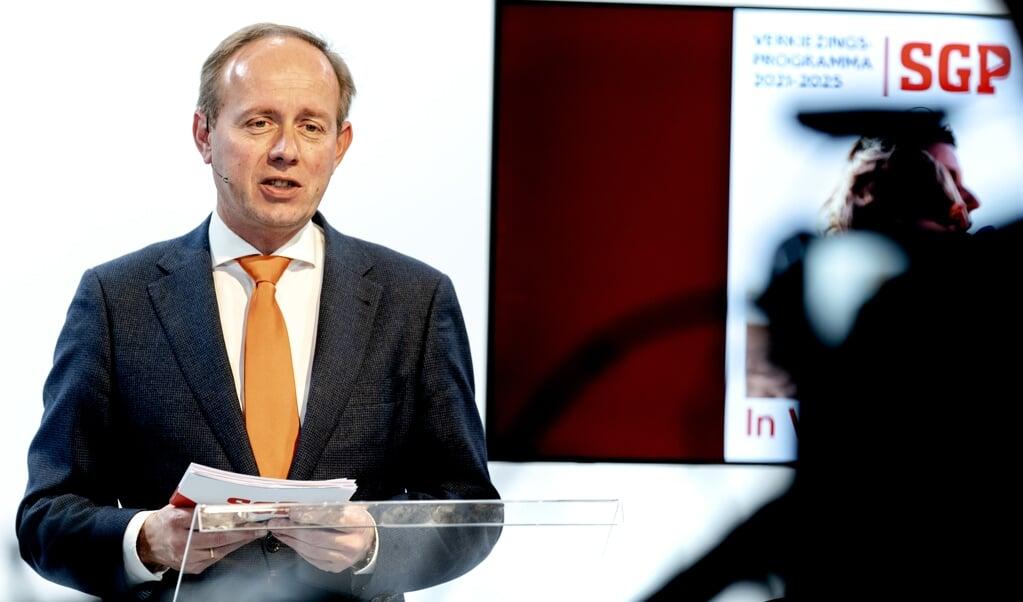SGP-leider Kees van der Staaij  (beeld anp / Sander Koning)