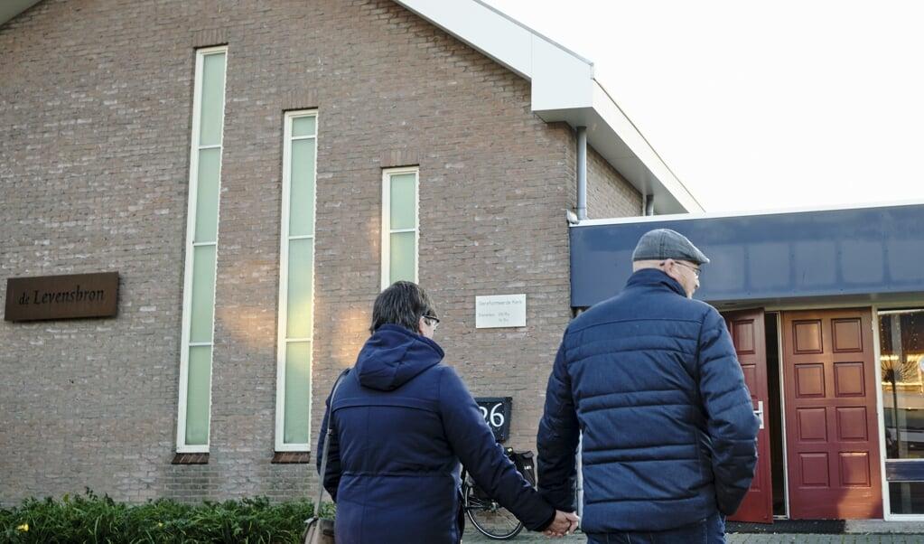 De vrijgemaakt-gereformeerde kerk in Ten Boer.  (beeld Dick Vos)
