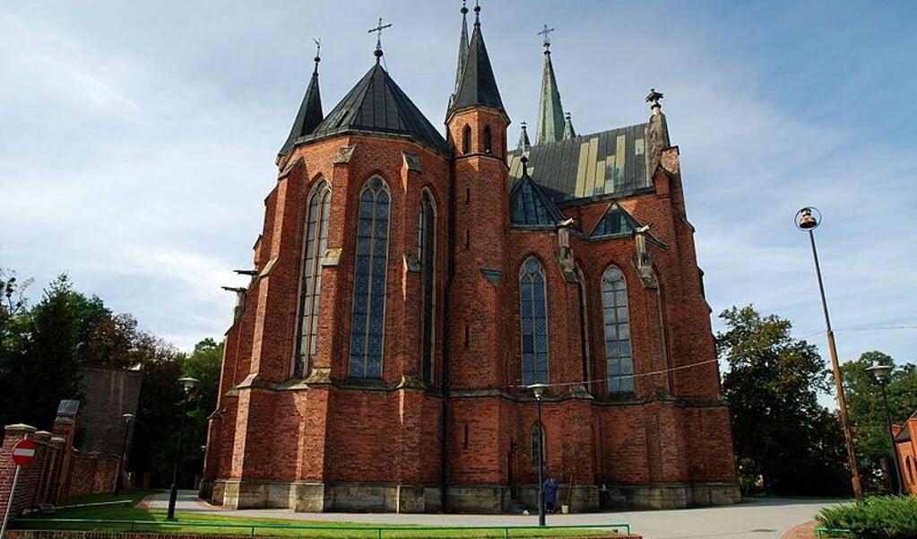 De kerk van de heilige  Katharina van Alexandrië in het Poolse dorp Slawiecice.  (beeld wikipedia)