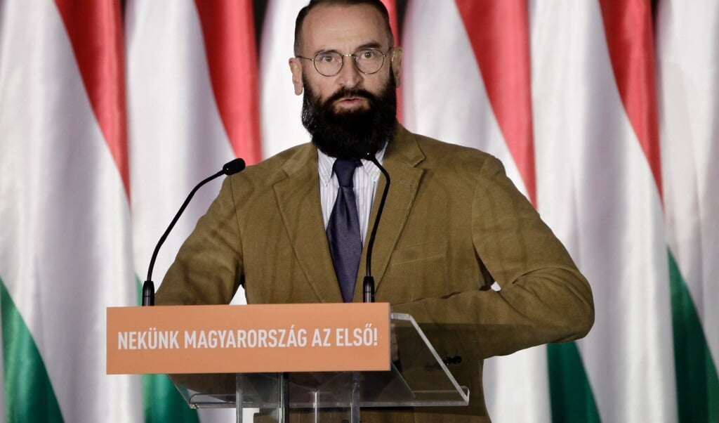 József Szájer  (beeld afp / Peter Kohalmi)