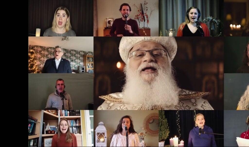 EO, PKN en de Rooms-Katholieke Kerk brachten vrijdagavond een lied van eenheid uit.  (beeld nd)