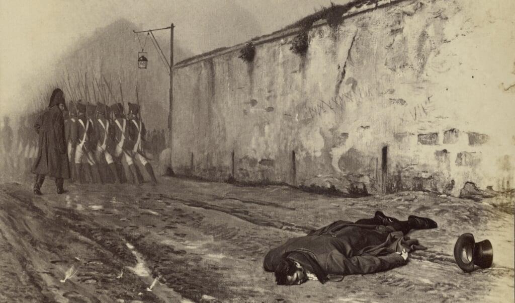 Schilderij van Jean-Léon Gérôme, De executie van Michel Ney, 1868.  (beeld nd)