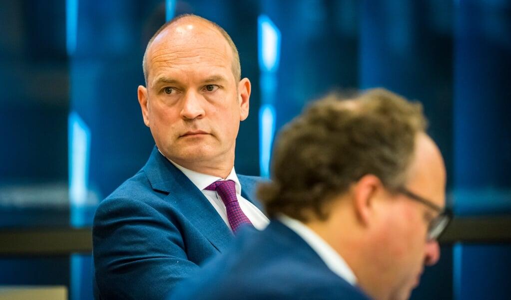 Initiatiefnemer Gert-Jan Segers (ChristenUnie) tijdens een notaoverleg in de Tweede Kamer over een Actieplan arbeidsmigratie.  (beeld anp / Lex van Lieshout)