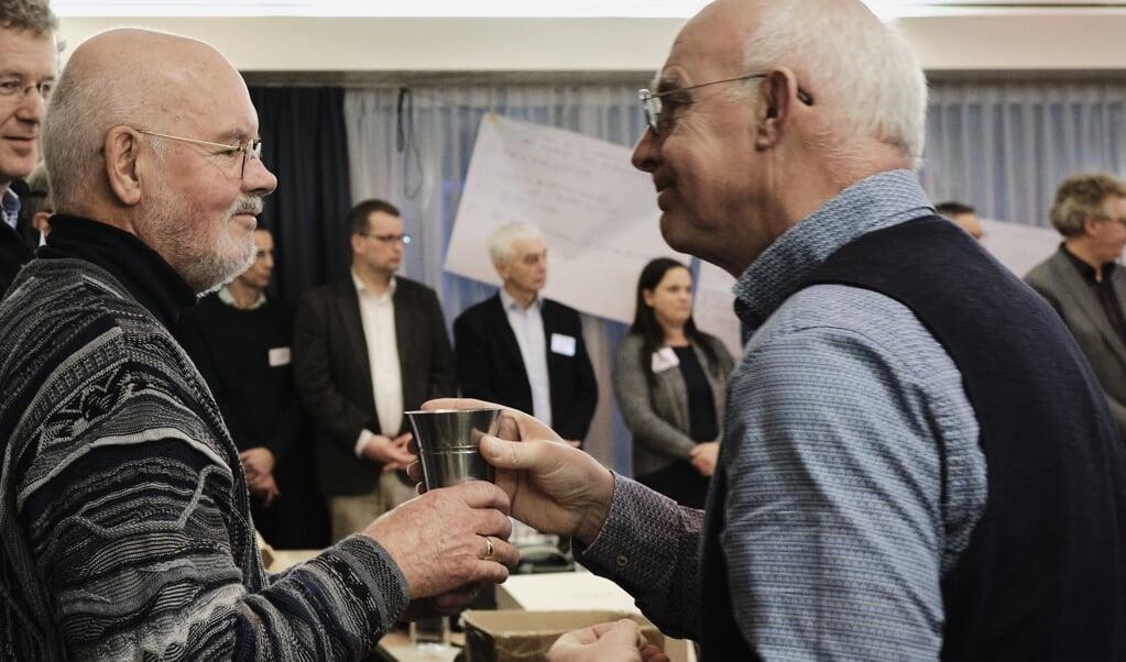 De vrijgemaakt-gereformeerde synode en de Nederlands-gereformeerde landelijke vergadering hebben zaterdag unaniem besloten voort te gaan op de weg van eenwording.  (beeld Dick Vos)