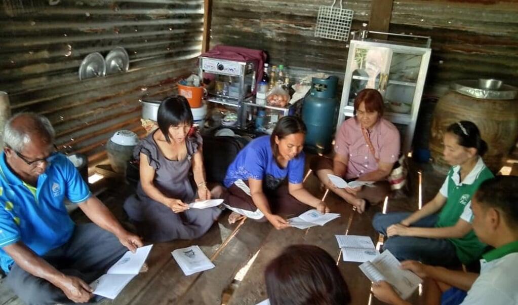 Een kerk aan huis in Thailand.  (beeld globalrize)