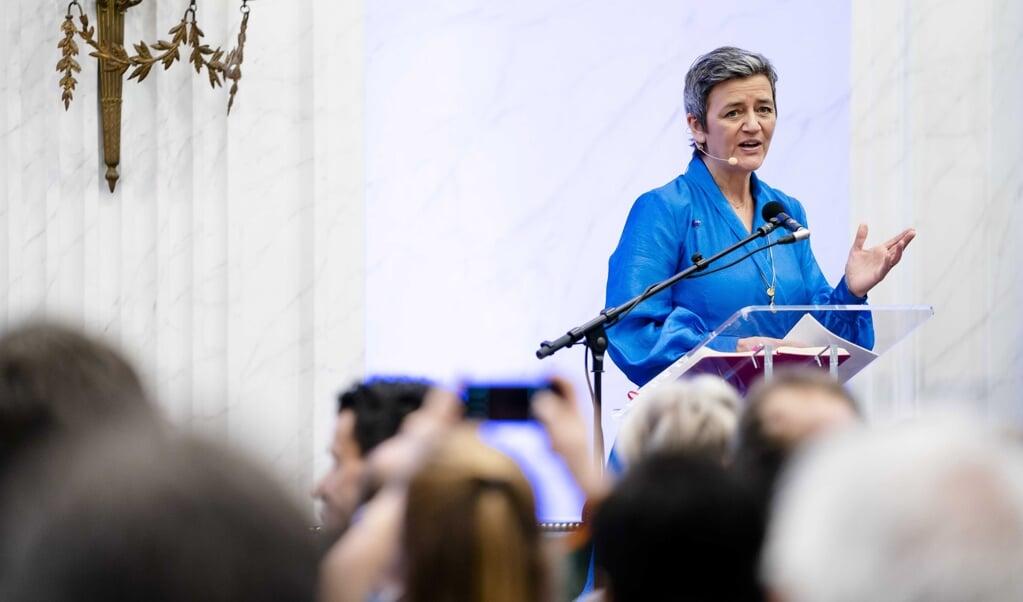Margrethe Vestager, Eurocommissaris voor Mededinging, tikte Google al eerder op de vingers.   (beeld epa / Bart Maat)